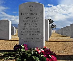 Fred Lawrence's Head Stone for Bakersfield National Cemetery