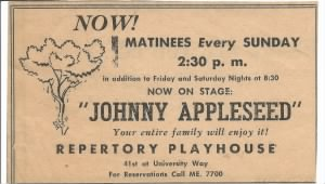 Johnny Appleseed Musical Production