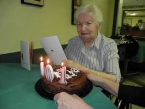 Margi at her 100th birthday
