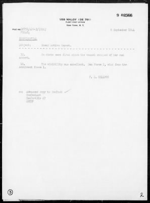 Rep of Participation in the Capture of German Hospital Ship (BORDEAUX) off the Coast of Northern France on 9/1/44 › Page 2 - Fold3.com