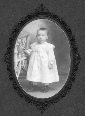 Raymond Lawrence as a baby