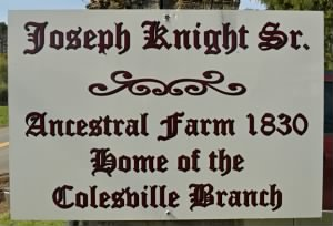 Sign on House, Knight home in Colesville NY
