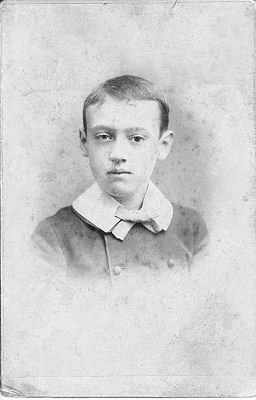 F. B. Van Kleeck, Jr. as a boy - closeup