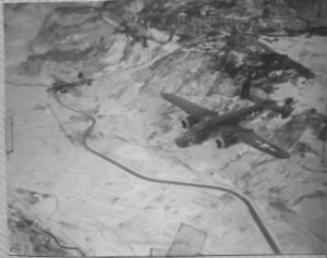 340thBG,486thBS, B-25 Over the Brenner ( 9M and 9V )  Lt Cahill flew in the 9M.