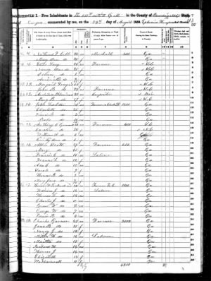 Anthony C Gamel 1850 US Census