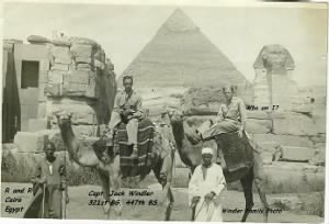 "321stBG,447thBS, Capt. John ""Jack"" H Windler (Left) and his friend at Cairo, Egypt"