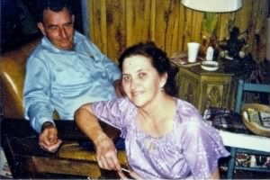 Carrol Meredith and his wife Iva in 1976