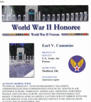 World War II Honoree