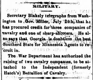 St. Cloud Democrat., August 04, 1864, Image 3 - Raising the Calvary