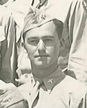Lawrence A Ward as an AVIATION CADET