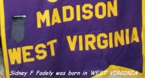 Sidney Hamilton Fadely was born in West Virginia