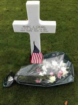 Marc J. Craig's resting place at Epinal American Cemetery and Memorial in France