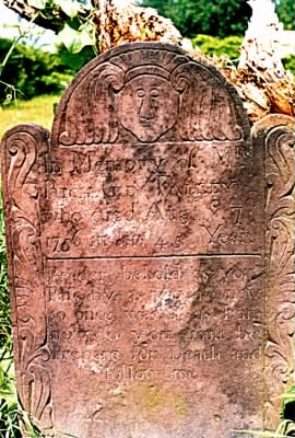 Enhanced photo of my ancestor's tombstone Richard Falley