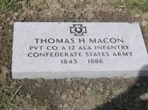 Thomas Hill Macon, 12th Alabama Infantry, Co. A