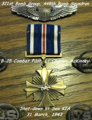 321stBG,448thBS, Lt Charlie McKinney was awarded a Distinguished Flying Cross for Heroism