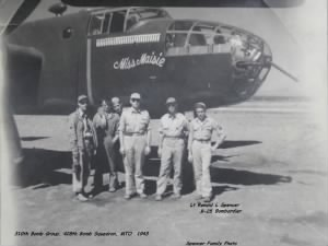 Ronald with his Combat Crew and the B-25 MISS MIASIE WWII Combat over Italy
