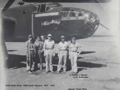 Ronald with his Combat Crew and the B-25 MISS MIASIE WWII Combat over Italy - Fold3.com
