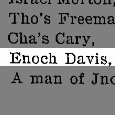 1765 Lower Darby Single Man Enoch Davis