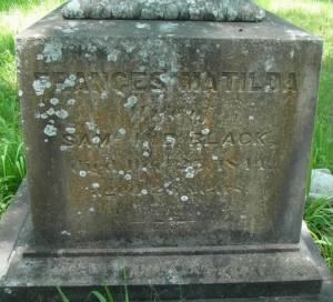 Frances Matilda Black Headstone.JPG