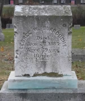 Landsman George W Burrows Headstone