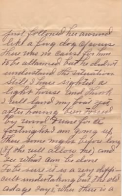 Letter from Dolph Barker to Lois Link dated 9 Jun 1909 - Pg3
