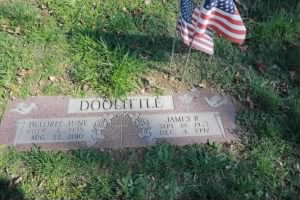 James Robert Doolittle & Delores Headstone