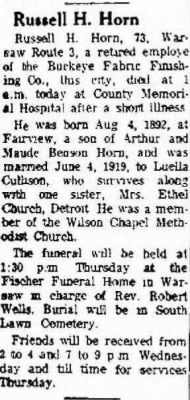 Russell H Horn 1965 Coshocton OH Obit.JPG