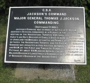 Thomas Jonathan Jackson-Monument map: Dunker Church