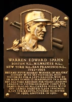 Warren Spahn Hall Of Fame
