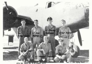 Edward with Lt Sam Rigling's CREW