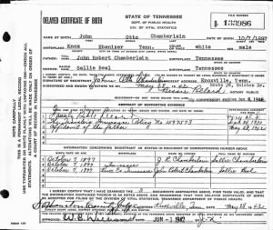 John Otto Chamberlain TN Delayed Birth Cert.jpg