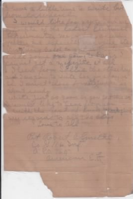 Letter from Private Smith to his brother - Fold3.com