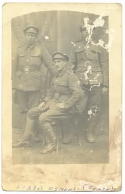 Robert William Osmond, seated 2 December 1917, France