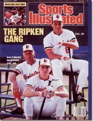 Cal Ripken Sr and sons Cal Jr and Billy