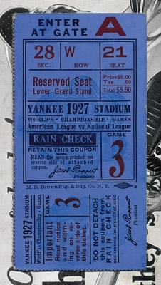 1927 World Series Ticket