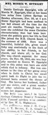 Hattie G Eppright 1922 Obit.JPG