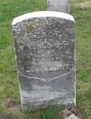 Headstone of James H Gaff