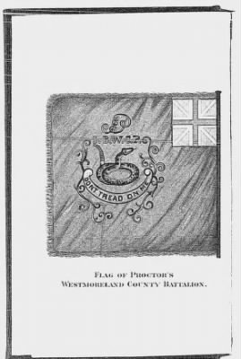 Flag of Proctor's Westmoreland County Battalion