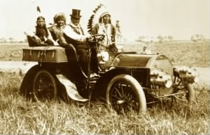 Geronimo in a 1905 Locomobile Model C