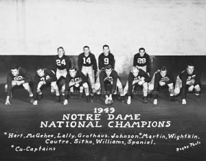 1949 National Champions, Notre Dame