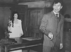 Constance Smith & Jack Palance in Man in the Attic, 1953