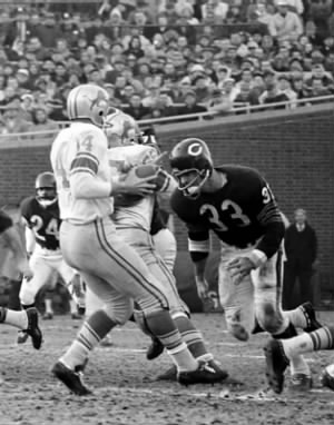 Larry Morris against the Lions
