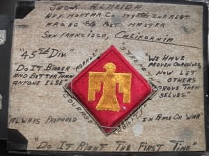45th Div patch