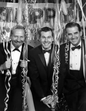 Skitch Henderson, Johnny Carson and Ed McMahon, 1962