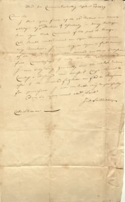 Correspondence from Major General John Sullivan to Shreve on September 25, 1779