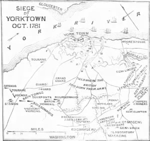 Battle of Yorktown Map