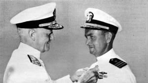 Awarded Silver Star by Admiral Nimitz