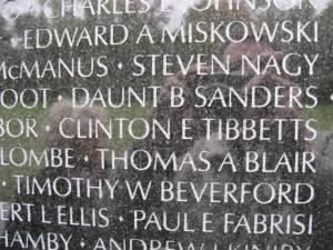 Vietnam Wall Inscription