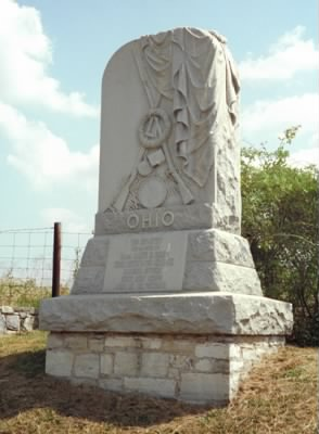 23rd Ohio Infantry Regiment monument at Antietam, Commanded by Major James M. Comly