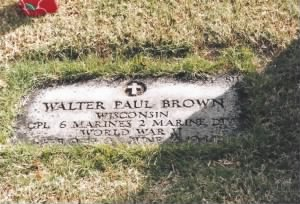 J BROWN WALTER PAUL Walter Paul Brown Headstone Punch Bowl Cemetery.jpg